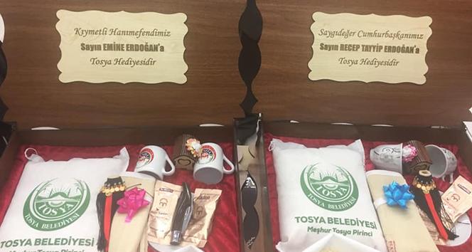 Cumhurbaşkanı Erdoğan'a Tosya Pirinci hediye edildi