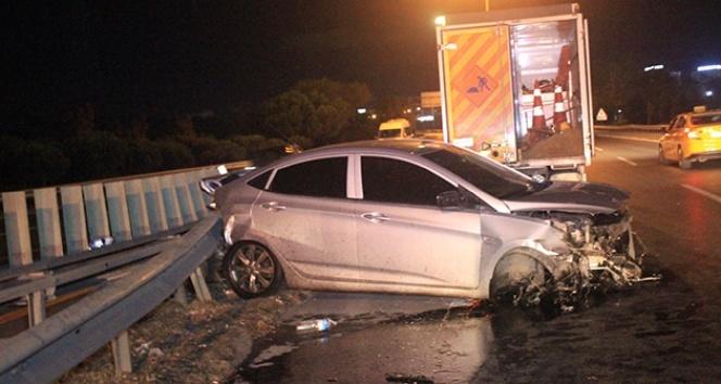 Makas atan alkollü sürücü trafik kazasına neden oldu