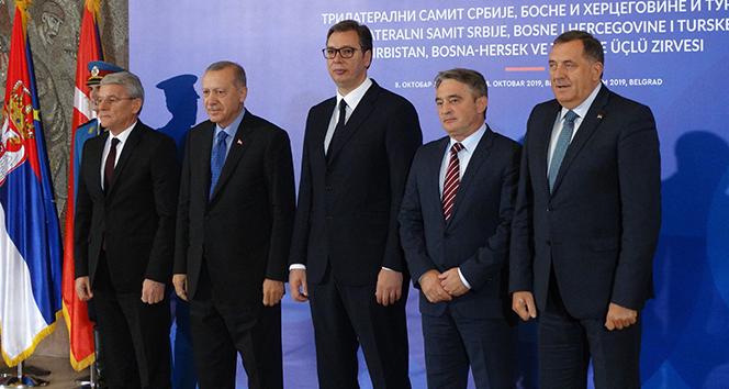 Erdoğan, Üçlü Zirve öncesi aile fotoğrafı çekildi