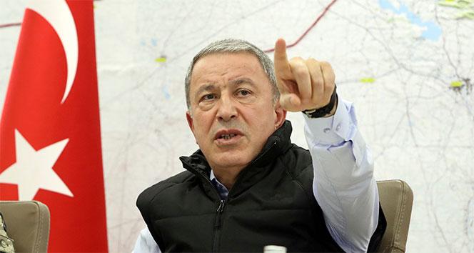 Bakan Akar: '911 kilometrelik sınırlarımızda terör koridoru oluşturulmasına izin vermeyeceğiz'