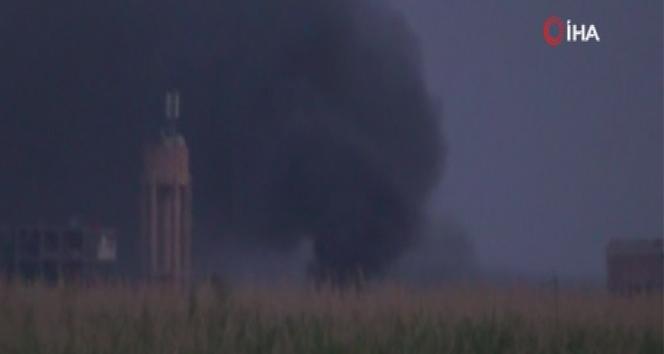 Derbesiye'den dumanlar yükseliyor