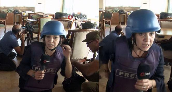 Teröristlerin gazetecilere saldırı anı kamerada! 'Bizi bırakın biz iyiyiz canlı yayına geçin'