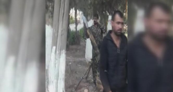 Kamışlı'da YPG/PKK'lıların havan topu atışı kameraya yansıdı