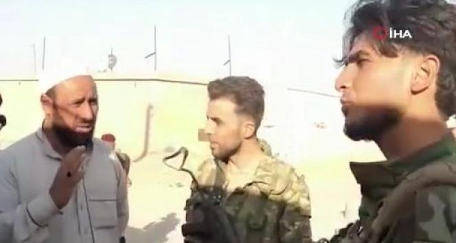 Suriye Milli Ordusu askerleri Resulayn'da sivillerle bir araya geldi