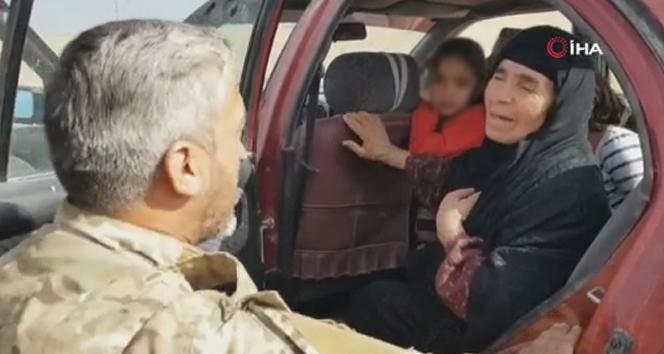 Tel Abyad'a dönen siviller Suriye Milli Ordusu tarafından karşılandı