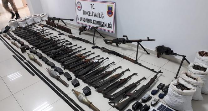 Tunceli'de 1 haftada 10 sığınak imha edildi, 71 silah ile 22 bin mermi ele geçirildi