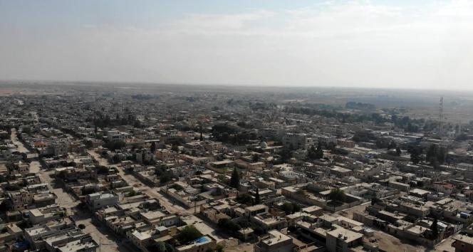 Teröristlerden temizlenen Resulayn havadan görüntülendi