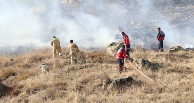 Kırşehir'de 100 dönüm arazi küle döndü
