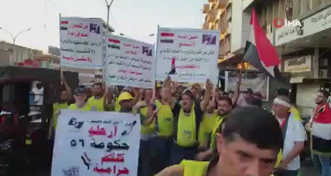 Irak'ta hükümet karşıtı protestolara engellilerden destek
