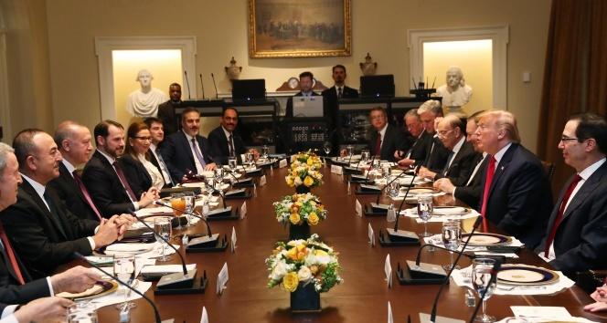 Cumhurbaşkanı Erdoğan ve Trump çalışma yemeğinde