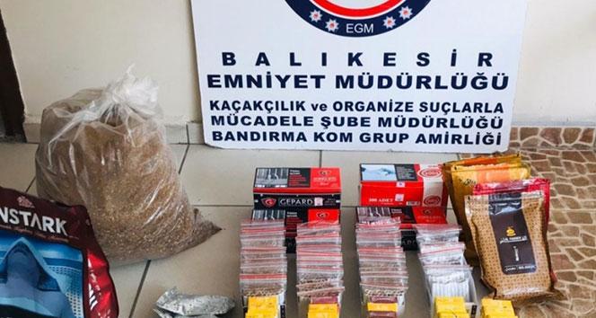 Bandırma'da kaçak tütün operasyonu