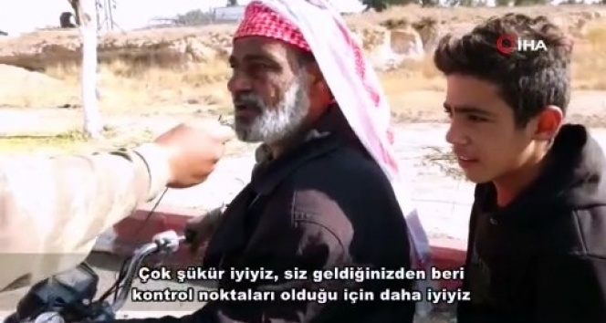 Tel Abyadlılardan Mehmetçiğe teşekkür