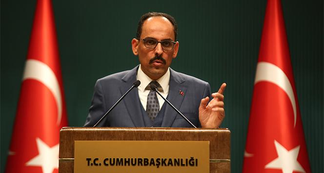 Cumhurbaşkanlığı Sözcüsü İbrahim Kalın'ndan Kabine toplantısı sonrası açıklamalar