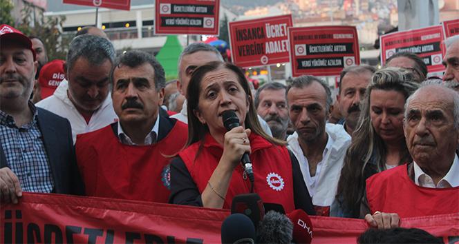 Disk Genel Başkanı Arzu Çerkezoğlu: 'Vergide adalet mücadelesini omuz omuza yürütüyoruz'