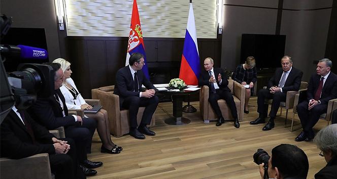 Rusya Devlet Başkanı Putin ile Sırbistan Cumhurbaşkanı Vucic görüştü