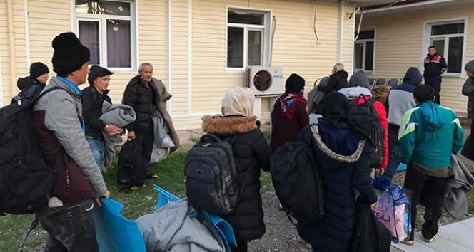 Ayvalık'ta 34 düzensiz göçmen yakalandı