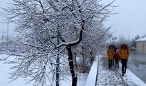 Yurdun dört bir yanı güne karla uyandı