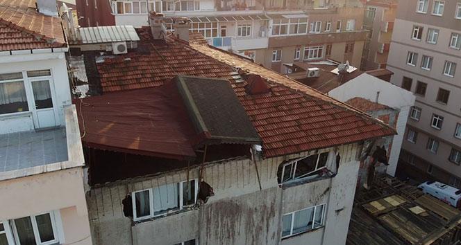 Şişli'de, çatı katında çökme meydana gelen binanın tedbiren boşaltılmasına karar verildi