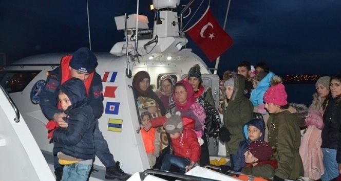 Ayvalık'ta 108 düzensiz göçmen yakalandı