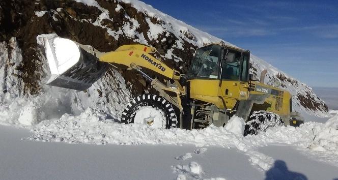 Muş'ta 35 kardan dolayı kapanan köy yolu ulaşıma açıldı