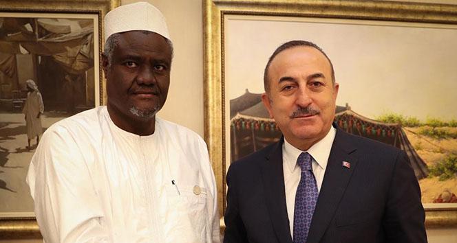 Bakan Çavuşoğlu, Katar Dışişleri Bakanı El Thani ile görüştü