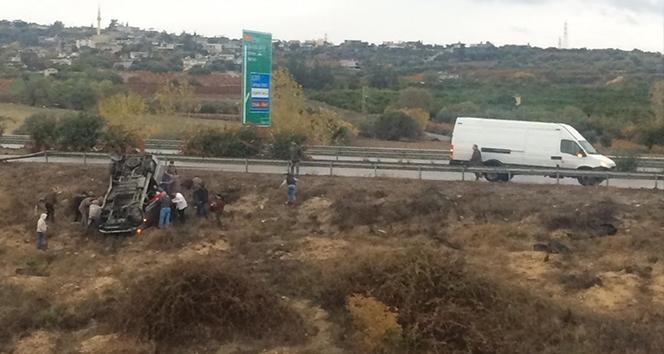 Tarsus'ta trafik kazası: 5 yaralı !