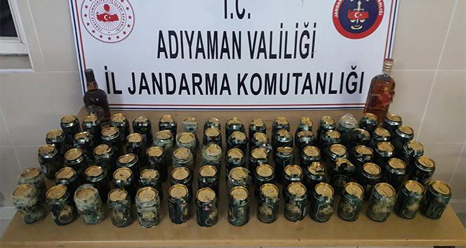 Jandarma ekiplerinden bandrolsüz içki operasyonu
