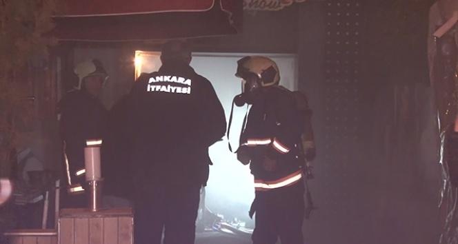 Ankara'da eğlence mekanında yangın