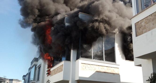 Klima evi yaktı