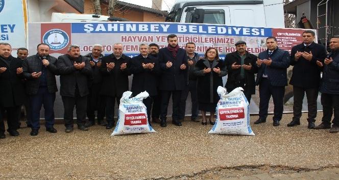 Şahinbey'den hayvan yetiştiricilerine 7 bin ton yem desteği
