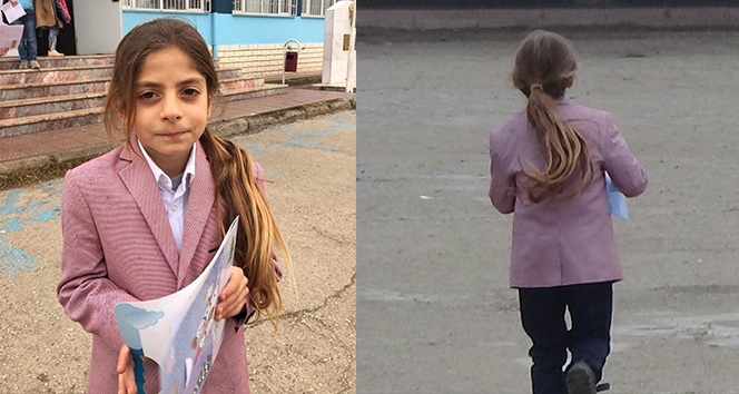 9 yıldır saçlarına makas değmeyen Baran karnesini aldı