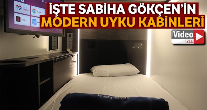 Sabiha Gökçen'in modern uyku kabinleri
