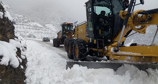 Amasya'da 84 köy yolu ulaşıma kapandı