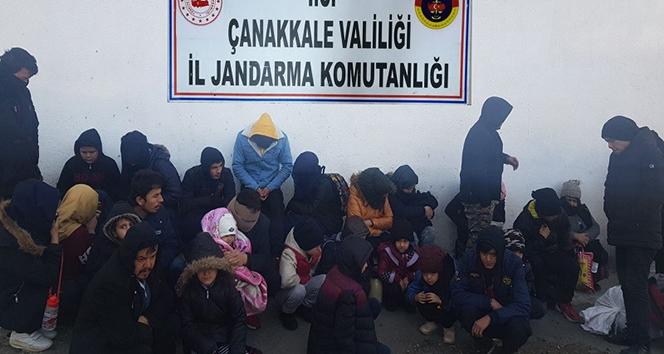 Çanakkale'de 30 mülteci yakalandı!