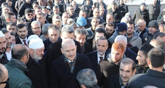 Bakan Soylu, Abdulkerim Çevik'in taziyesine katıldı