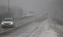 Bolu Dağı'nda şiddetli kar yağışı başladı
