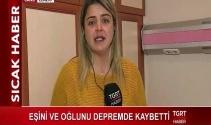 Eşini ve oğlunu kaybeden depremzedenin dramı TGRT Haber muhabiri Sultan Akten'i ağlattı