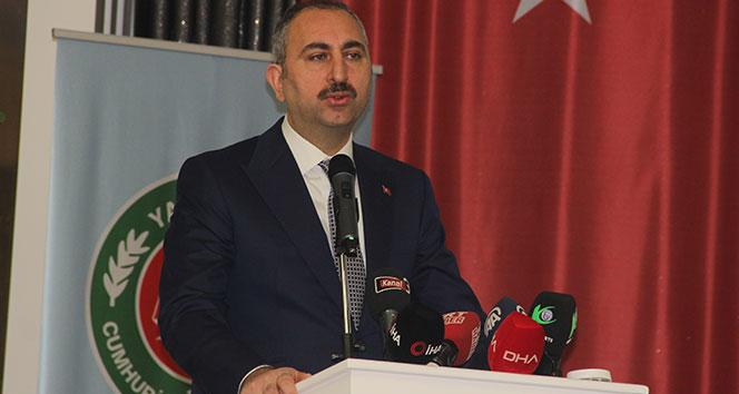 Adalet Bakanı Gül: 'Hukuku paspas gibi çiğneyenlere cevap olarak hakkı ve hukuku yücelteceğiz'