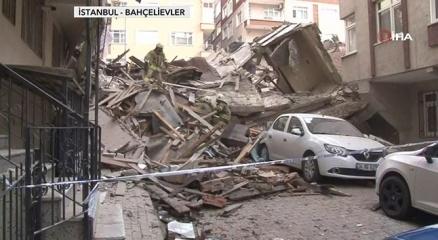 Bahçelievlerde 7 katlı bina çöktü