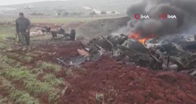 Suriye'de Esad rejimine ait helikopter düşürüldü