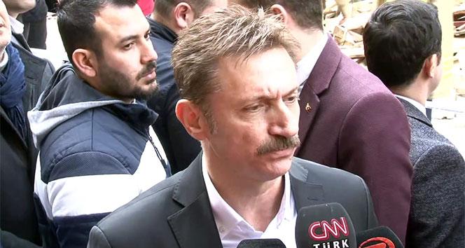 Bahçelievler Belediye Başkanı Bahadır: 'Giriş katta kolonlarda bulunan demirlerin alındığı söyleniyor'