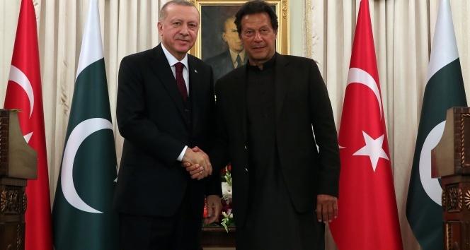Cumhurbaşkanı Erdoğan, Pakistan Başbakanı İmran Han ile ortak basın toplantısı düzenledi