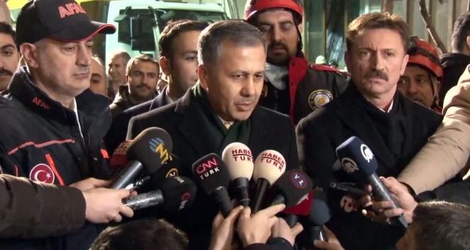 İstanbul Valisi Yerlikaya'dan Bahçelievler'de çöken binaya ilişkin açıklama