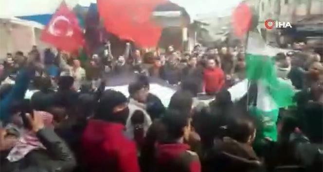 İdlib'de Türk askerine destek gösterisi
