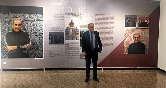 Tuvaldeki şiirin ressamı Devrim Erbil'in sergisine yoğun ilgi