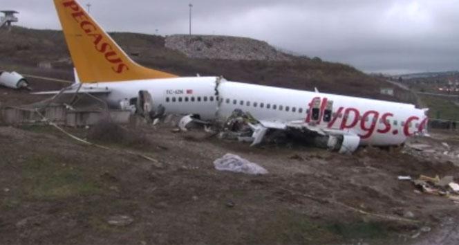 Uçak kazasında kaptan pilotun ifadesine daha sonra devam edilecek