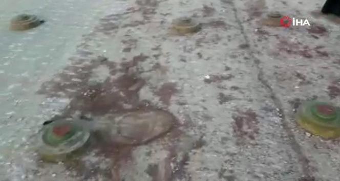 Suriye'de muhaliflerin ele geçirdiği Serakib'deki mayınlar görüntülendi