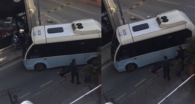 Kadıköy'de hatlı minibüs dehşeti kamerada
