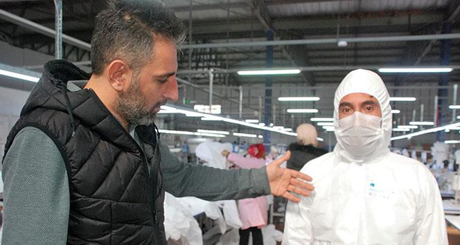 Türkiye'den dünyaya 'Korona virüsü tulumu' siparişleri yetiştiremiyorlar
