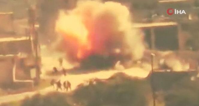 İdlib'de TSK destekli SMO, rejim tankını vurdu